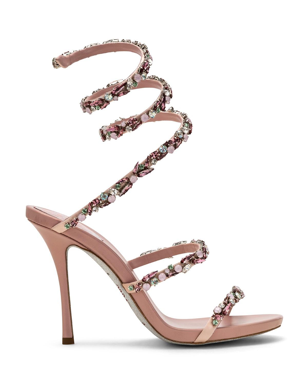 Sandali gioiello rosa Renè Caovilla a 1160 euro