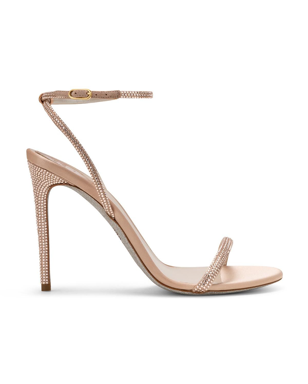 Sandali gioiello rosa antico Renè Caovilla a 890 euro
