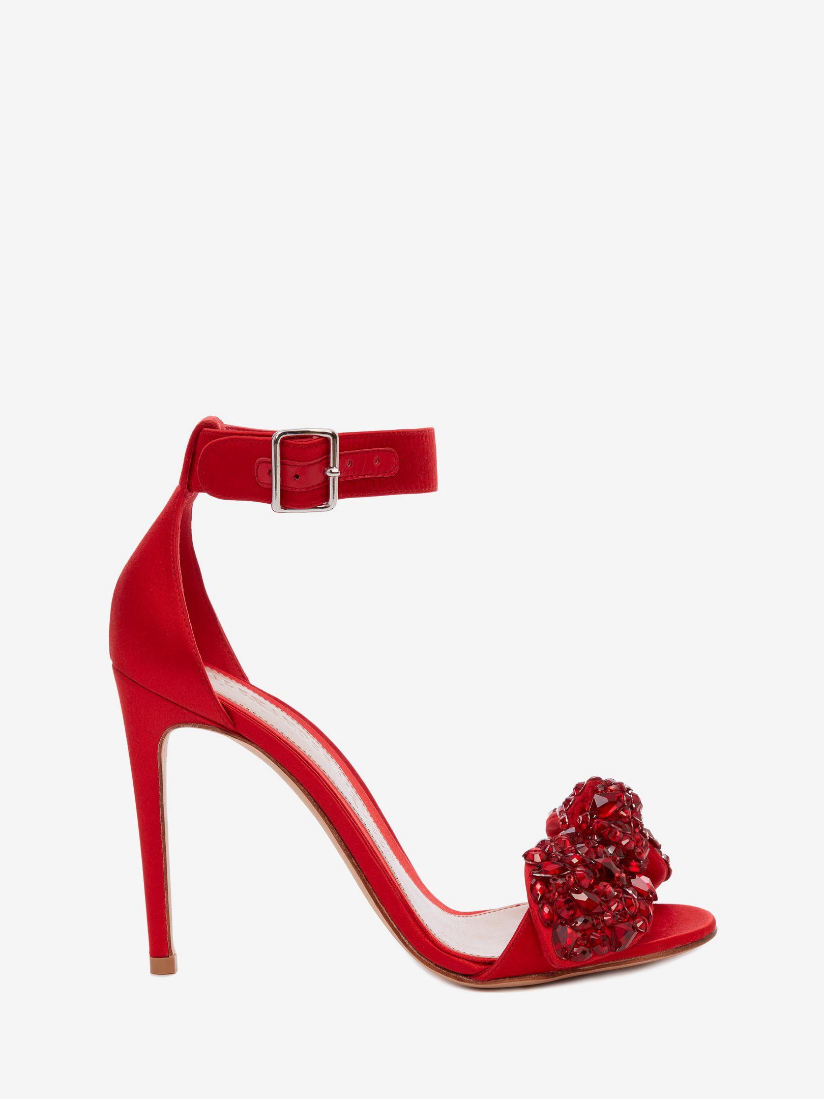 Sandali gioiello rossi Alexander McQueen