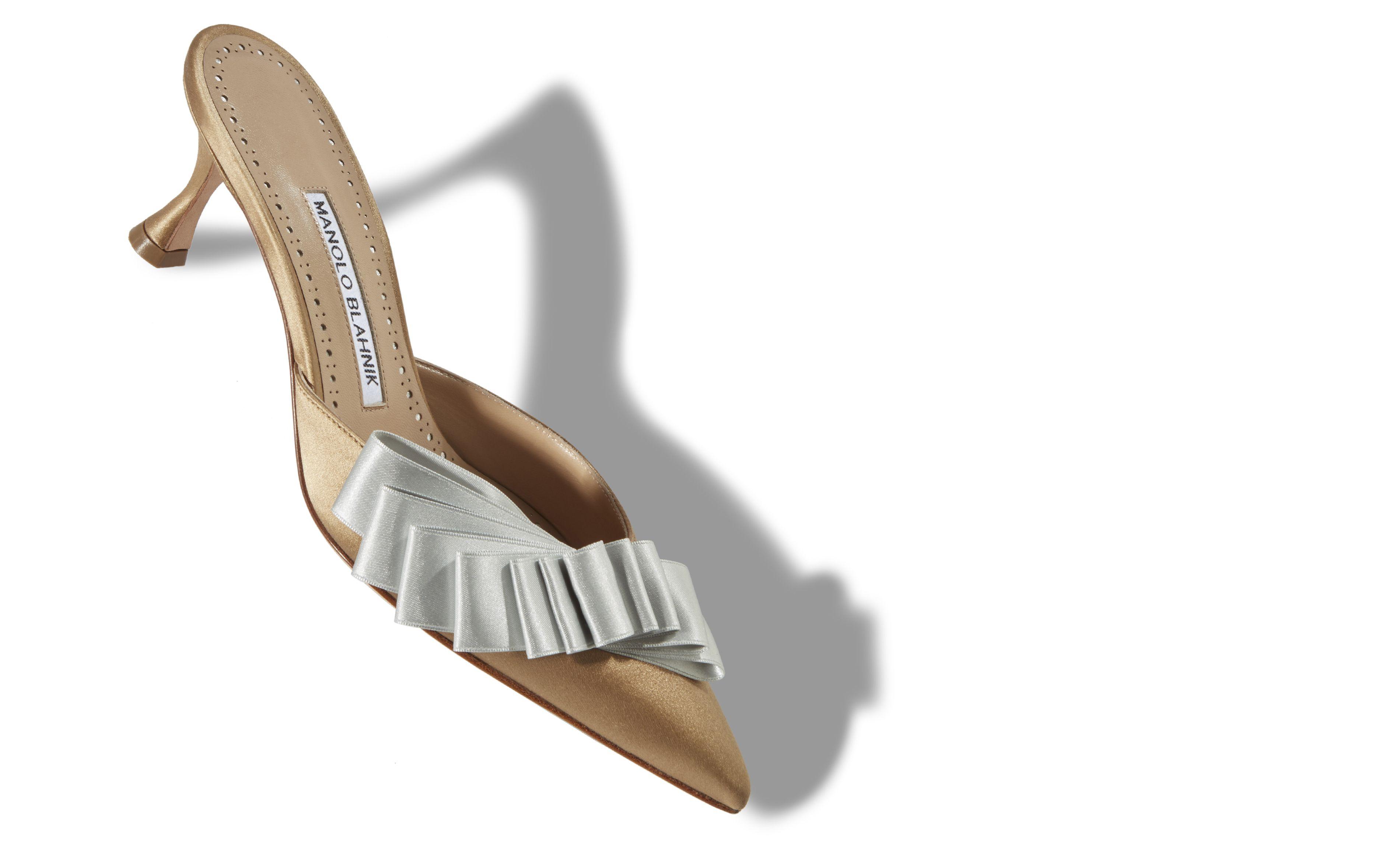 Scarpe a punta eleganti con tacco comodo Manolo Blahnik