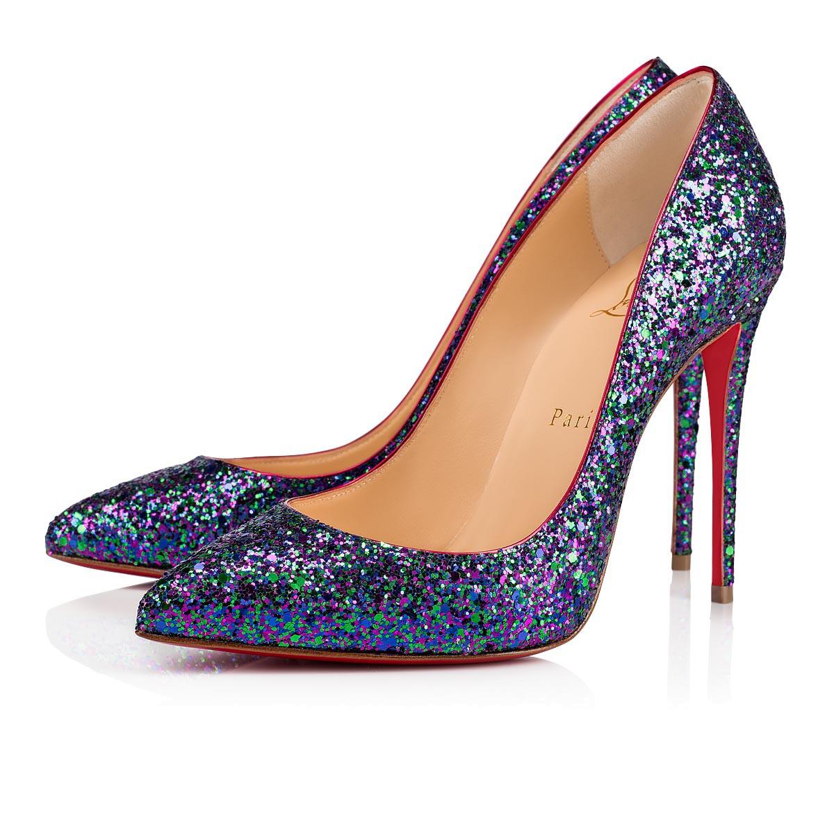 Scarpe a punta glitter multicolor a 560 euro