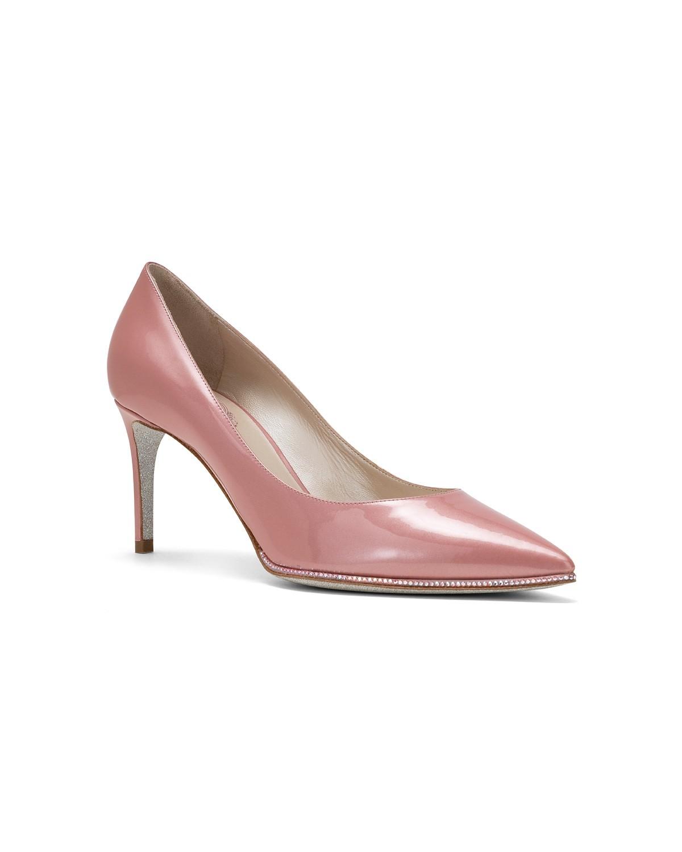Scarpe rosa con tacco in vernice Renè Caovilla a 675 euro