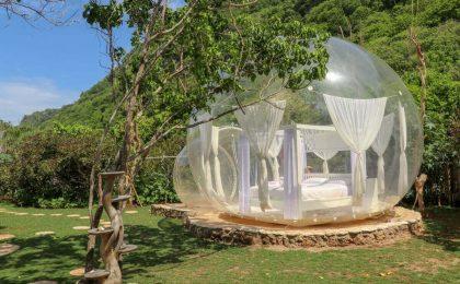 Bolle gonfiabili da giardino: relax sotto le stelle