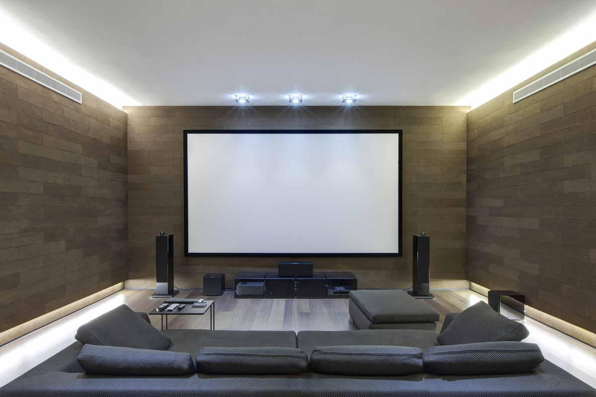 Home theatre: la stanza necessaria in una casa di lusso